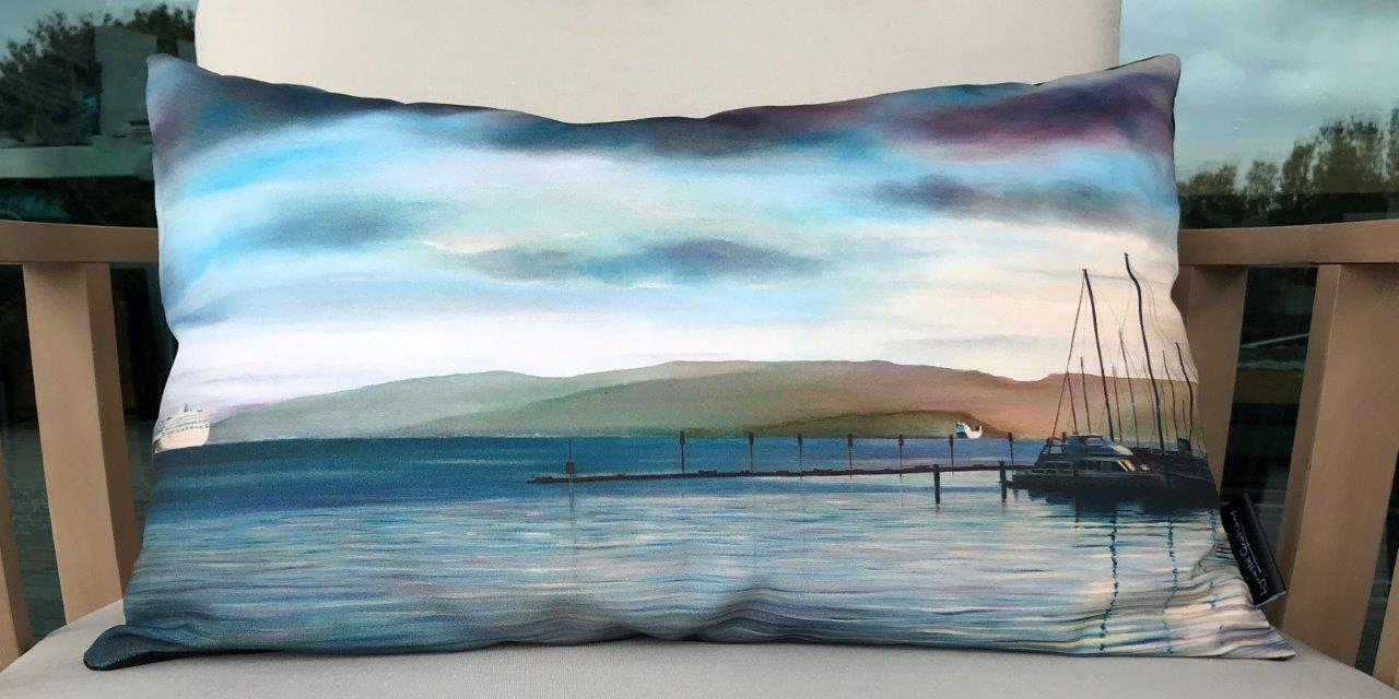 Chaffer's Marina Cushion Cover - Ecocanvas 45% recycled content 100% polyester durable - 450mm x 680 mm