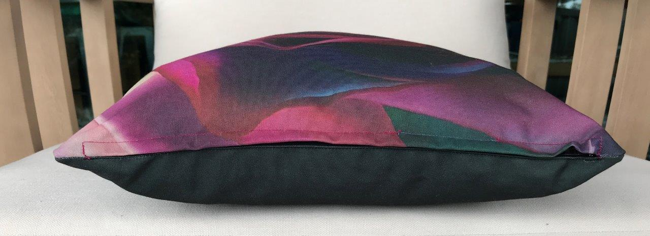 Rose Cushion Cover - Eco canvas 45% recycled content 100% polyester durable - 450mm x 680 mm
